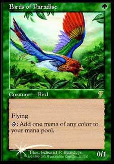 Birds of Paradise FOIL aus der 7. Edition